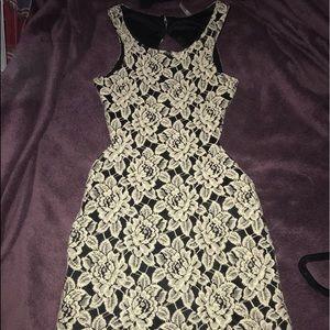Dresses & Skirts - Black and Cream Backless Mini Dress